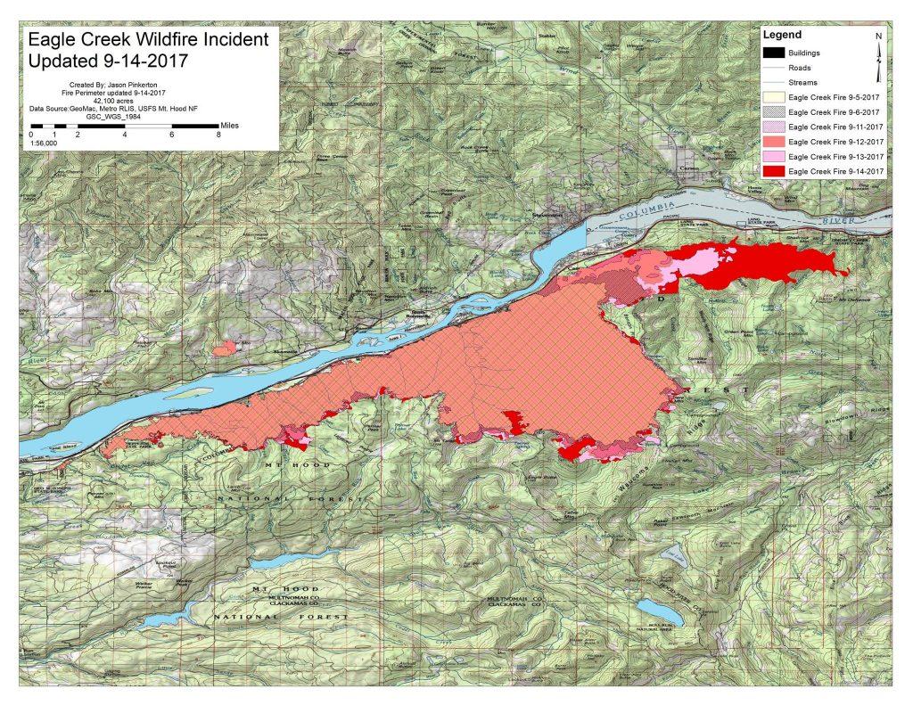 Eagle Creek Fire And Evacuation Information