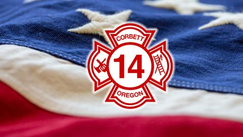 American Flag, Fire Dept. and the 4th!